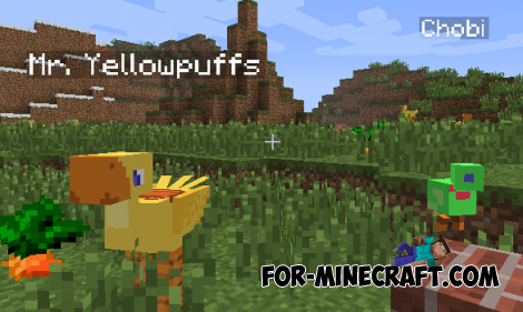 Chocobos Mod for Minecraft Pocket Edition 0.10.5