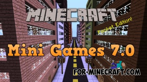 Mini games 7.0 for Minecraft PE 0.10.4 / 0.10.5