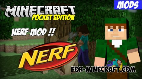 NERF mod for Minecraft Pocket Edition 0.10.5