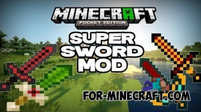 Super Swords mod for Minecraft PE 0.10.X
