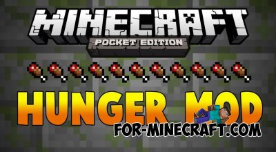 HungerPE mod for MCPE 0.10.5