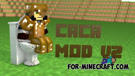 Caca mod V2 for Minecraft PE 0.10.5