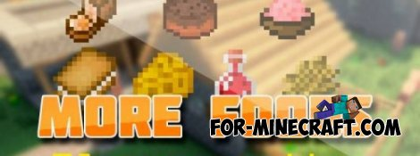 More Foods mod for MCPE 0.10.5