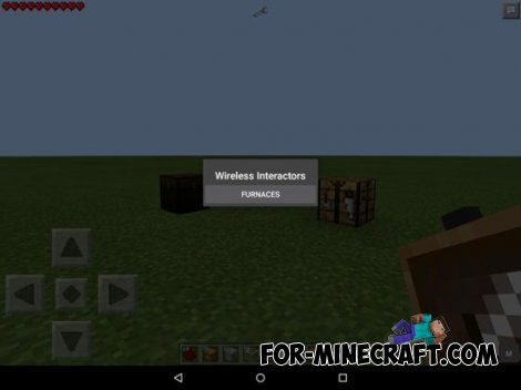 Wireless Interactor mod for Minecraft PE 0.10.5