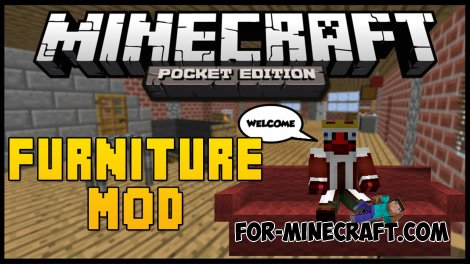 Furniture Mod for MCPE 0.10.5 / 0.10.4