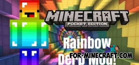 Rainbow Derp mod for Minecraft PE 0.10.5