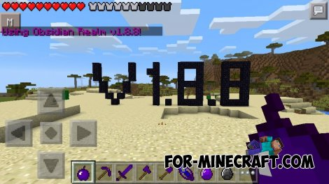 Obsidian Realm (+Texture) mod for Minecraft PE 0.10.5