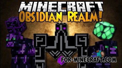 Obsidian Realm mod for Minecraft PE 0.10.5