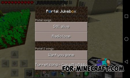 Portal Gun Mod for Minecraft PE 0.10.5