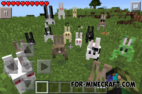 Rabbits Mod for MCPE 0.10.5