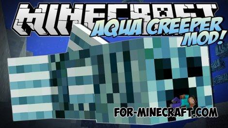 Aqua Creepers Mod for Minecraft Pocket Edition 0.10.5