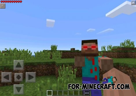 Evil Steve v2 mod for Minecraft PE 0.10.5