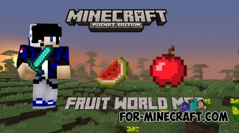 FruitWorld mod for MCPE 0.10.5