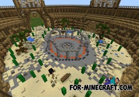 Roman Gladiators Arena map for MCPE 0.10.5 / 0.11.0