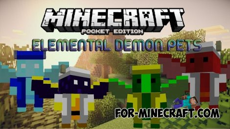 Elemental Demon Pets mod for Minecraft PE 0.10.5