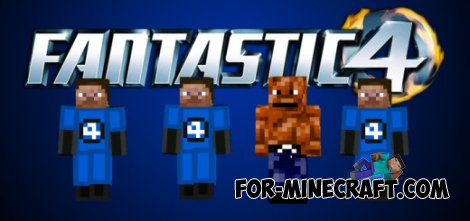 Fantastic Four mod for Minecraft PE 0.10.5