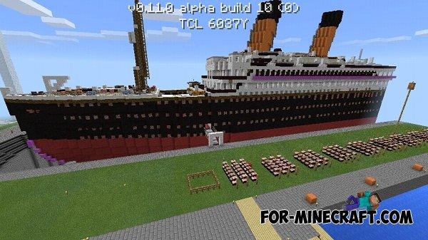 Карта RMS Titanic для майнкрафт pe