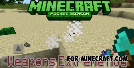 Weapons Extreme Mod for Minecraft PE 0.10.5