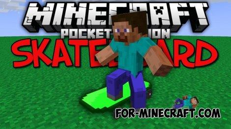 Skateboard Mod for Minecraft PE 0.10.5