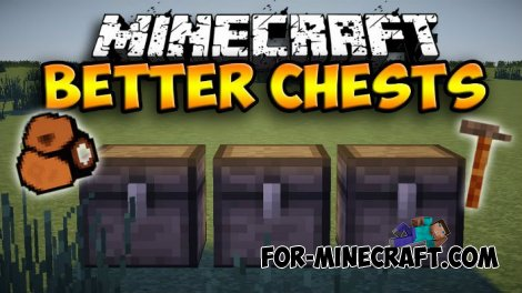 BetterChests mod for Minecraft 1.8