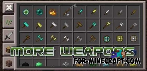 More weapons mod for Minecraft PE 0.10.5