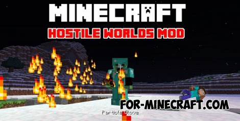 Hostile Worlds mod for MCPE 0.10.5