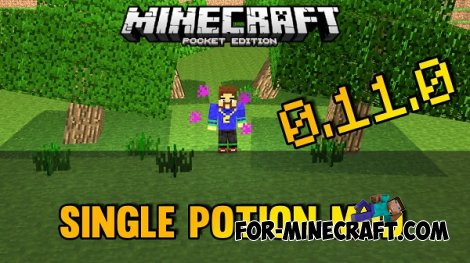 SinglePotion mod for Minecraft PE 0.11.0