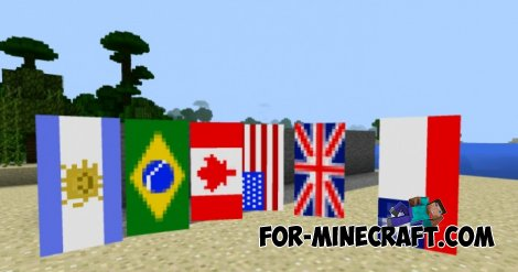 Banners Mod for Minecraft PE 0.11.0 / 0.10.5