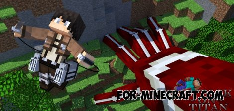 Attack on Titan mod for Minecraft Pocket Edition