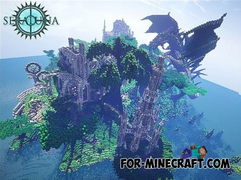Seraluna`s mill Water Temple Map for Minecraft 1.8