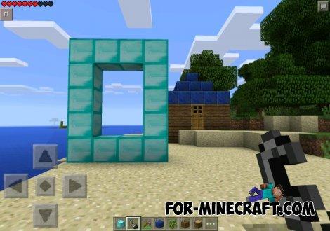 Diamond Portal Mod for Minecraft Pocket Edition