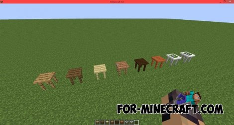 Fancy Tables mod for Minecraft 1.8
