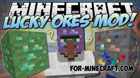 Lucky Ores mod for Minecraft 1.8