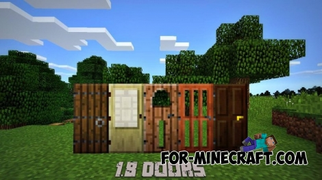 1.8 Doors mod for Minecraft PE 0.11.0 / 0.11.1