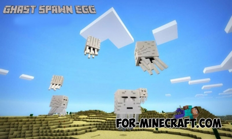 Ghast Spawn Egg mod for Minecraft Pocket Edition 0.11.1