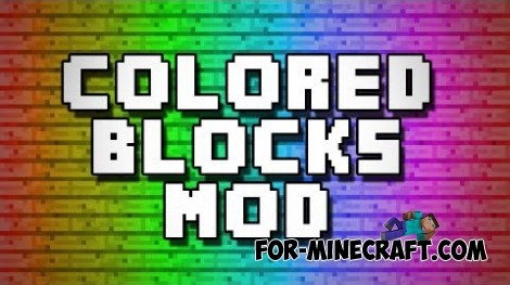 The Colored Blocks mod for Minecraft 1.6.4
