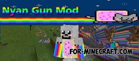 Nyan Gun mod for Minecraft PE 0.11.1