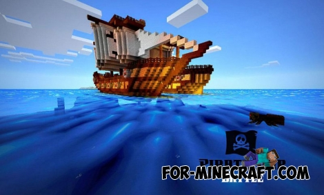 Pirate Ship Battle map for Minecraft PE 0.11.1