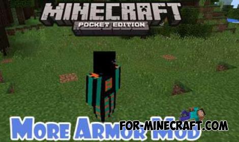 More Armor v5.0 mod for Minecraft PE 0.11.X