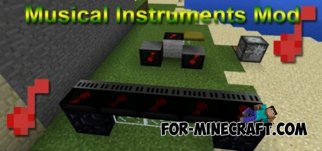 Musical Instruments mod for MCPE 0.11.1 / 0.11.0