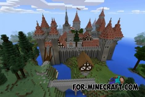 Minecraft pe castle download