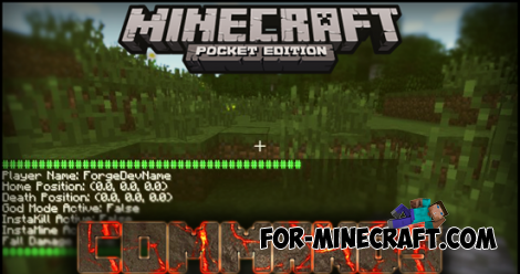 Commands Mod for MCPE 0.11.1
