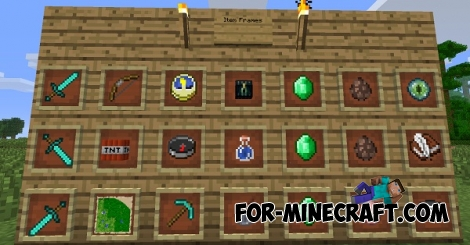Item frames mod for Minecraft PE 0.11.1 / 0.11.0