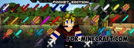 Very Good Swords mod for Minecraft Pocket Edition 0.11.1