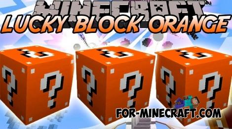 Orange Lucky Blocks mod for MCPE 0.11.1 / 0.11.0