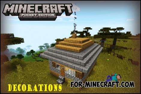 Decorations mod for Minecraft PE 0.11.1
