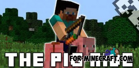 Ride the Pig mod for Minecraft PE 0.11.1 / 0.11.0