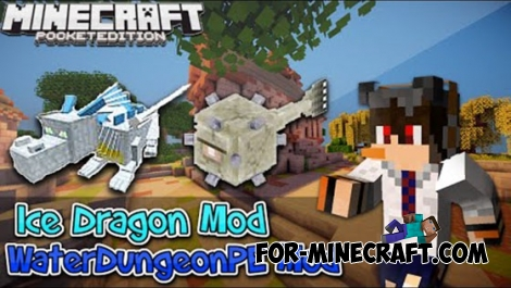 Ice Dragon and Water Dungeon mods for MCPE 0.11.X