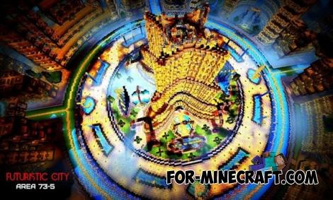 Futuristic City - Area 73-5 map for MCPE 0.11.X