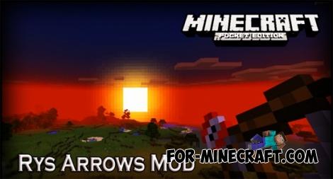 Rys Arrows mod for Minecraft PE 0.11.1 / 0.11.0